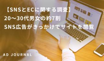 【SNSとECに関する調査】20〜30代男女の約7割 SNS広告がきっかけでサイトを閲覧