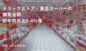 ドラッグストア・食品スーパーの購買金額 前年同月比8.4%増