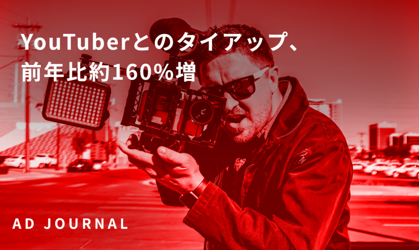 YouTuberとのタイアップ、前年比約160%増